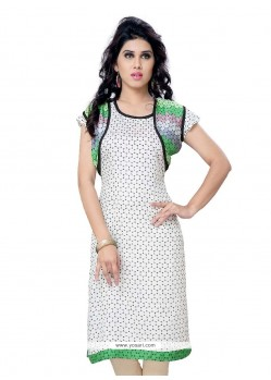 Breathtaking Lace Work Georgette Casual Kurti
