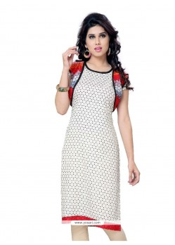 Astonishing Print Work Georgette Casual Kurti