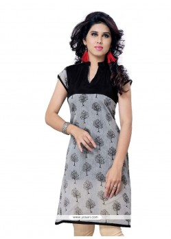 Aesthetic Black Casual Kurti