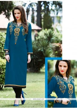 Celestial Embroidered Work Designer Kurti