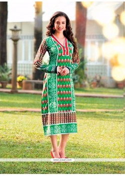 Piquant Cotton Multi Colour Party Wear Kurti