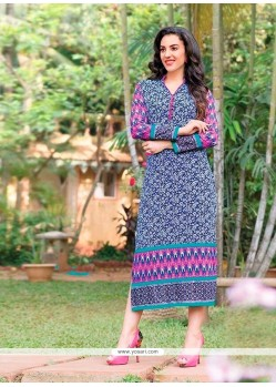 Miraculous Cotton Print Work Party Wear Kurti