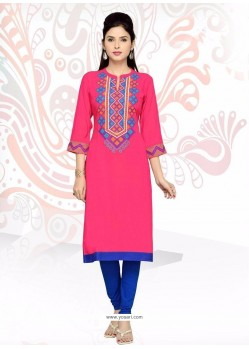 Innovative Hot Pink Party Wear Kurti