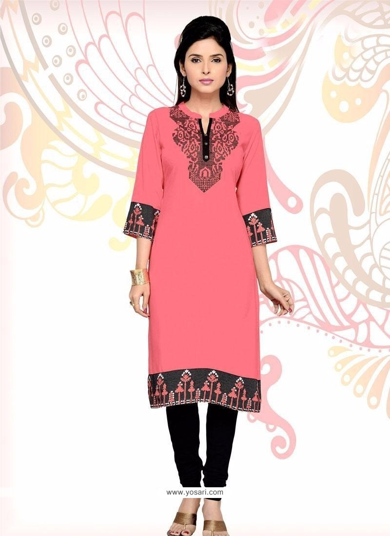 Renowned Embroidered Work Party Wear Kurti