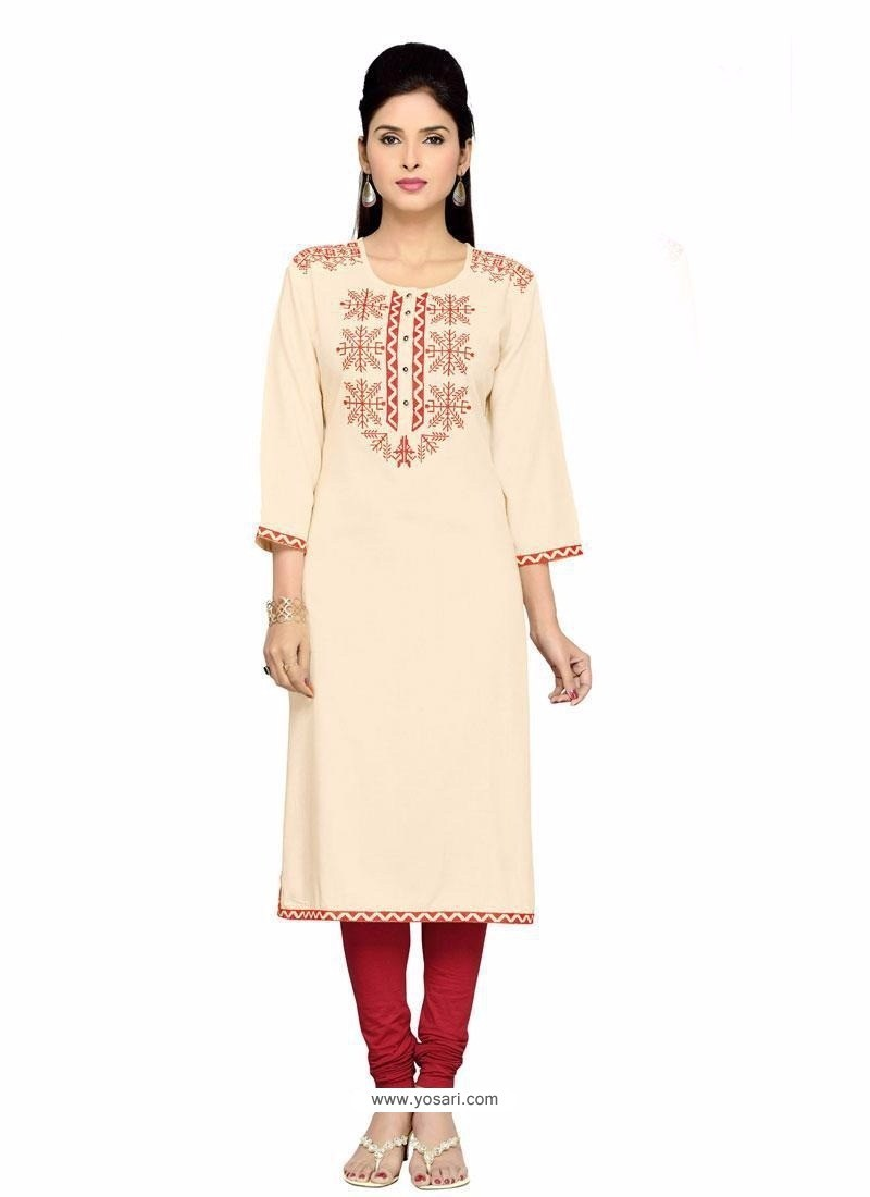 Glamorous Embroidered Work Party Wear Kurti