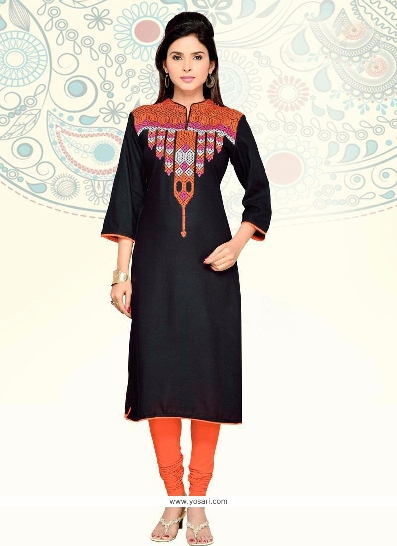 Trendy Black Party Wear Kurti