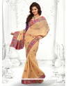 Phenomenal Beige Faux Georgette Saree