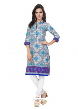Staring Jacquard Multi Colour Print Work Casual Kurti