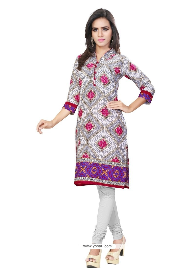 Exuberant Multi Colour Casual Kurti