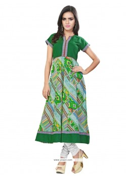 Graceful Cotton Print Work Casual Kurti