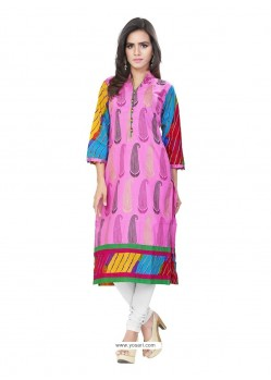 Glowing Pink Casual Kurti