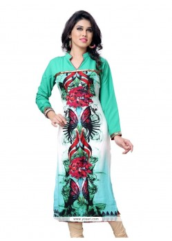 Engrossing Faux Crepe Party Wear Kurti