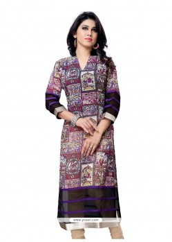 Latest Multi Colour Party Wear Kurti