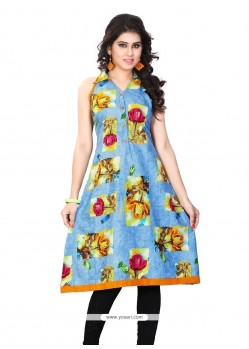 Unique Cotton Multi Colour Party Wear Kurti