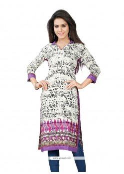 Marvelous Print Work Party Wear Kurti