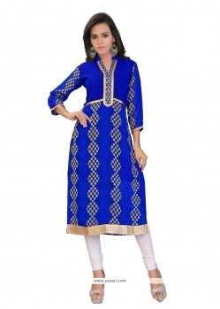 Savory Blue Party Wear Kurti