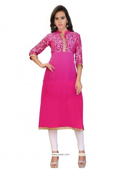 Surpassing Brasso Georgette Lace Work Party Wear Kurti