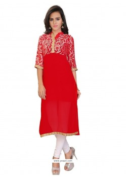 Snazzy Brasso Georgette Party Wear Kurti