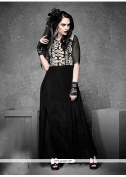 Auspicious Embroidered Work Georgette Designer Kurti