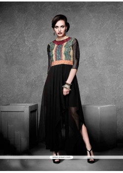 Tempting Net Embroidered Work Designer Kurti