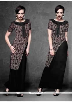 Modernistic Black Designer Kurti