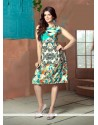 Bewildering Faux Crepe Digital Print Work Party Wear Kurti