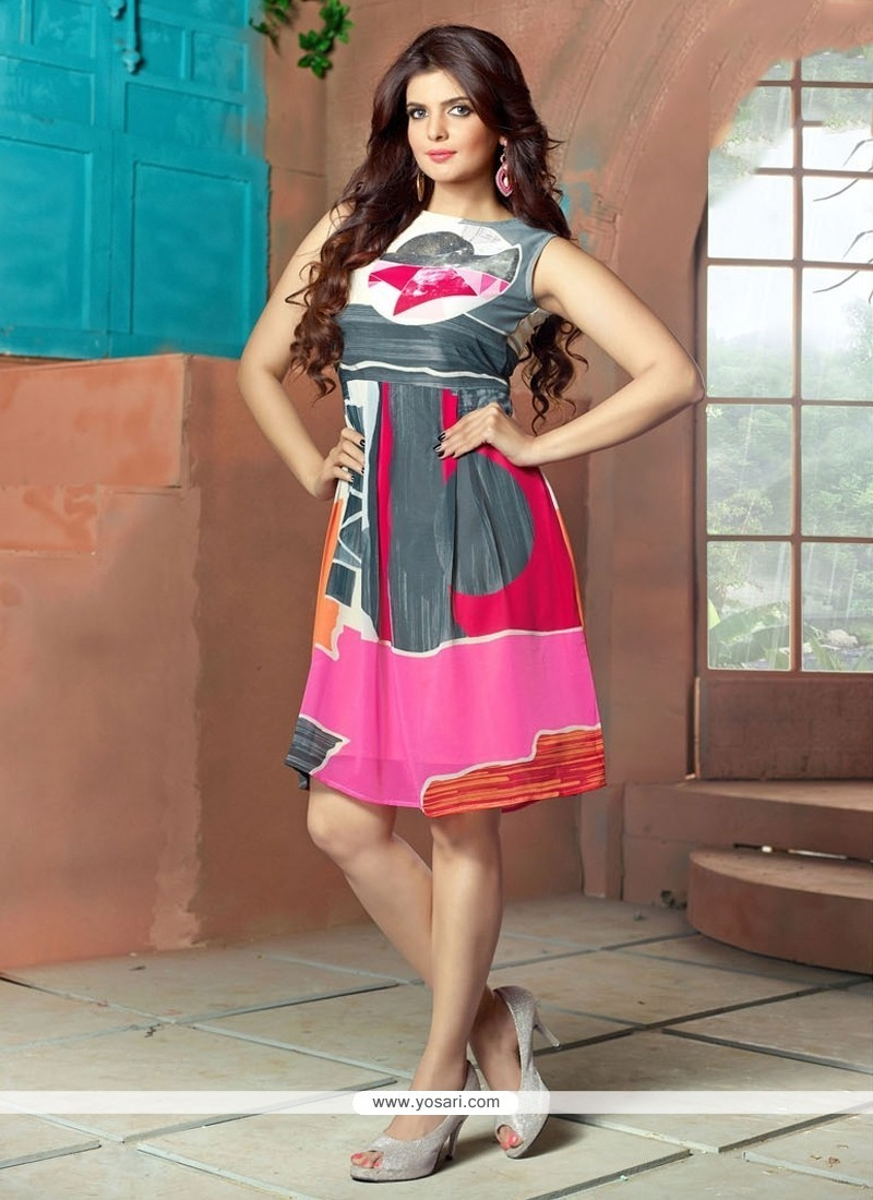 Astounding Georgette Party Wear Kurti