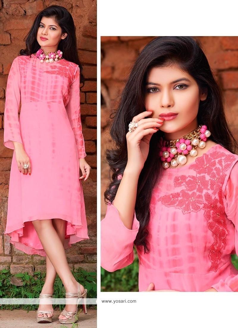 Beauteous Pink Designer Kurti