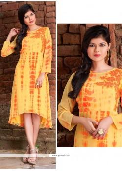 Precious Yellow Designer Kurti