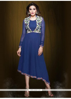 Preferable Blue Party Wear Kurti