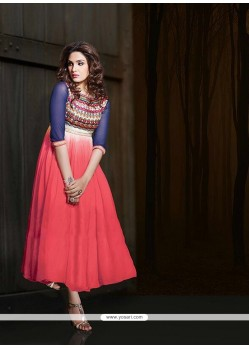 Modish Embroidered Work Georgette Party Wear Kurti