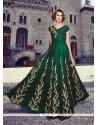 Sonorous Green Anarkali Salwar Kameez