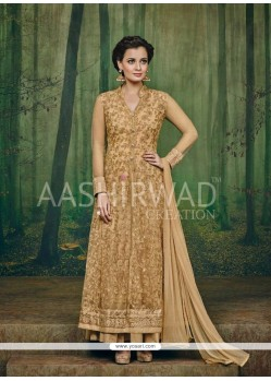 Diya Mirza Embroidered Work Georgette Anarkali Salwar Kameez