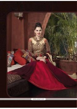 Majesty Georgette Resham Work Designer Suit