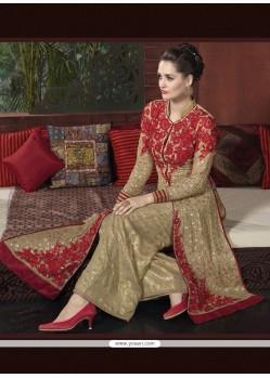 Flamboyant Georgette Embroidered Work Designer Suit