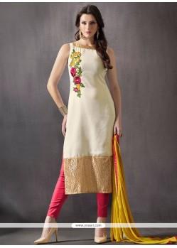 Lustre Embroidered Work Churidar Designer Suit