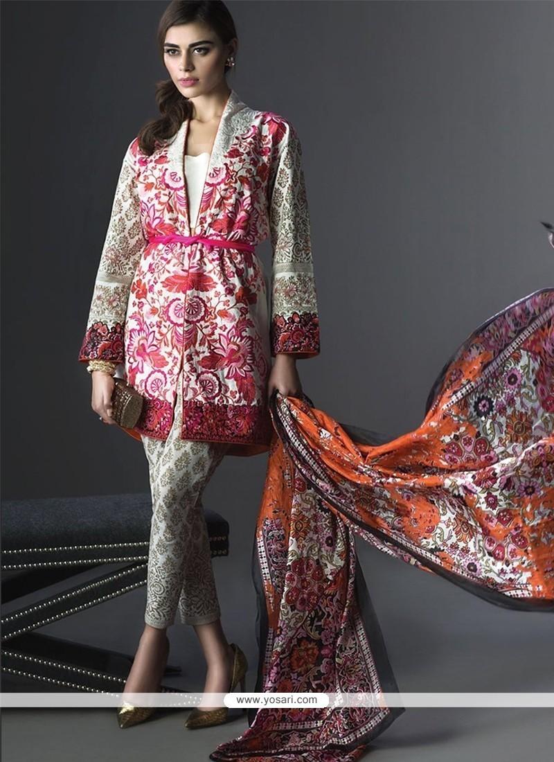Sorcerous Multi Colour Print Work Georgette Designer Suit