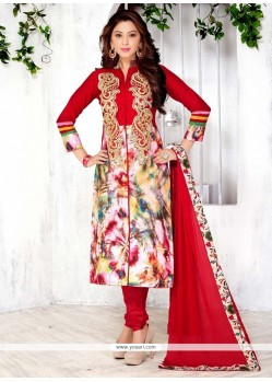 Spectacular Cotton Churidar Designer Suit