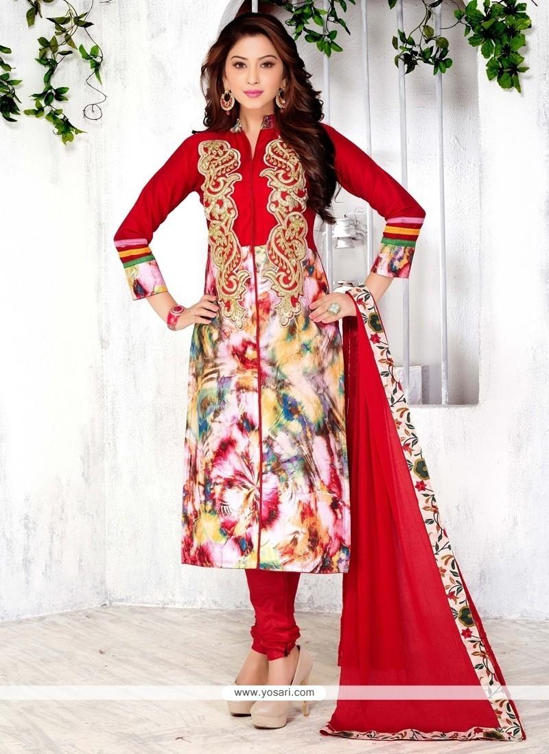 Spectacular Cotton Churidar Designer Suit