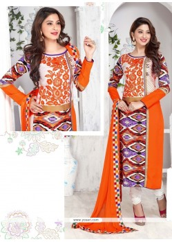 Glitzy Embroidered Work Multi Colour Churidar Designer Suit