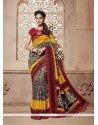Elite Print Work Multi Colour Casual Saree