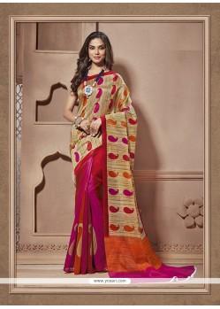 Hypnotic Cotton Silk Print Work Casual Saree