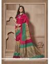 Prime Multi Colour Print Work Cotton Silk Casual Saree