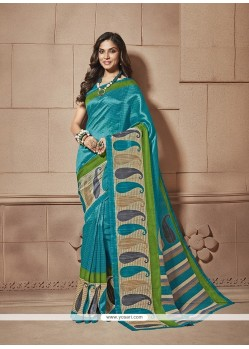Astonishing Print Work Cotton Silk Casual Saree