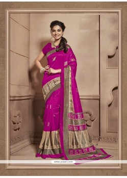 Modish Cotton Silk Print Work Casual Saree