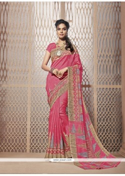 Enchanting Pink Casual Saree