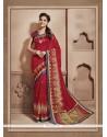 Superb Cotton Silk Red Casual Saree