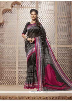 Invaluable Cotton Silk Black Casual Saree
