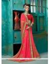 Vivacious Hot Pink Classic Designer Saree