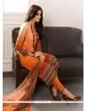 Magnetic Multi Colour Print Work Georgette Designer Straight Salwar Suit